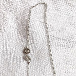 Jewelry - Sterling Silver 1/10 CTTW Diamond Key Necklace